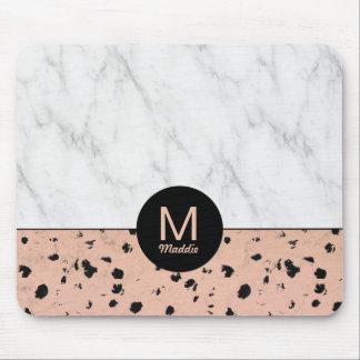Modelo color de rosa elegante del oro y del mármol alfombrilla de ratón
