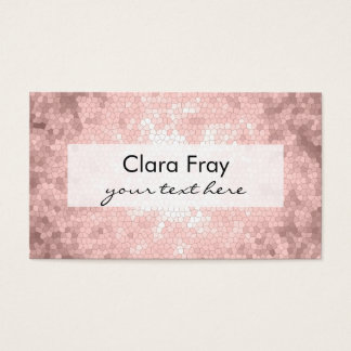 modelo color de rosa femenino sofisticado elegante tarjeta de negocios