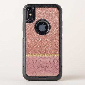 Modelo color de rosa rosado del purpurina y de la