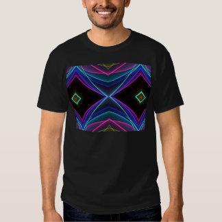 Modelo coloreado fluorescente de neón enrrollado camisas