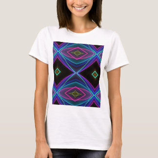 Modelo coloreado fluorescente de neón enrrollado camiseta