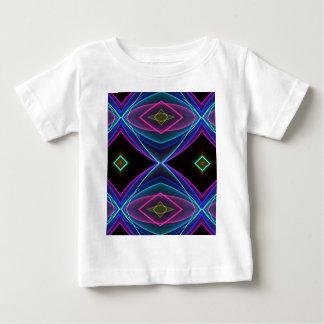 Modelo coloreado fluorescente de neón enrrollado camiseta de bebé