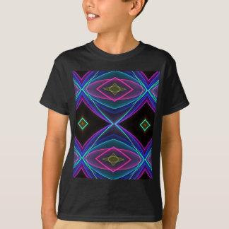 Modelo coloreado fluorescente de neón enrrollado camisetas