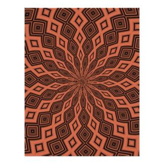 Modelo colorido abstracto folleto 21,6 x 28 cm
