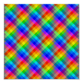 Modelo colorido. Colores del arco iris Póster