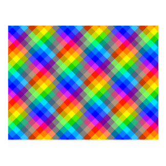 Modelo colorido. Colores del arco iris Postal
