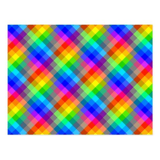Modelo colorido. Colores del arco iris Postales