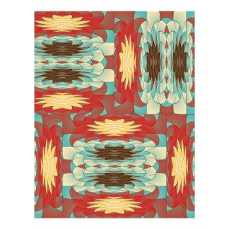 Modelo colorido complejo folleto 21,6 x 28 cm
