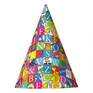 Modelo colorido de la letra de molde de ABC del Gorro De Fiesta