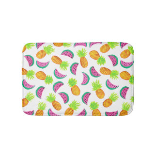 modelo colorido de la sandía de la piña de la alfombrilla de baño