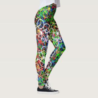 Modelo colorido de las bicicletas - las polainas leggings