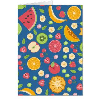 Modelo colorido de las frutas tarjeta de felicitación