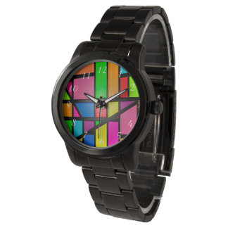 Modelo colorido de las tejas reloj de pulsera