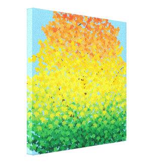 Modelo colorido de Ombre de las hojas de arce del Lienzo