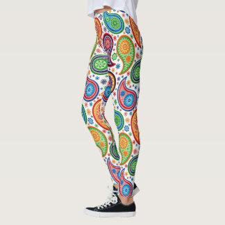Modelo colorido de Paisley del vintage Leggings