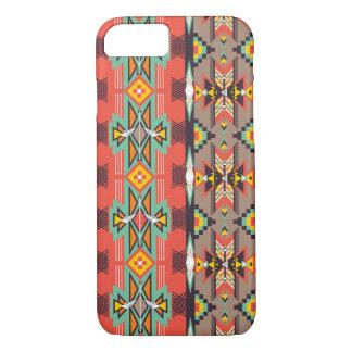 Modelo colorido decorativo en estilo azteca funda iPhone 7