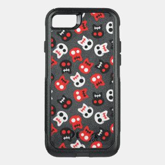 Modelo colorido del cráneo cómico funda commuter de OtterBox para iPhone 7