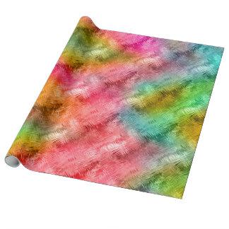 Modelo colorido del cristal papel de regalo