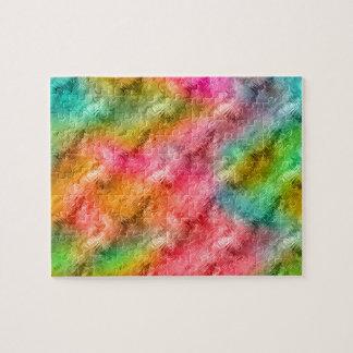 Modelo colorido del cristal puzzle