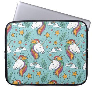 Modelo colorido del ejemplo del unicornio del funda para portátil