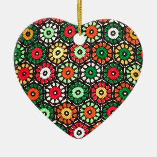 Modelo colorido del ganchillo de los círculos de l adorno