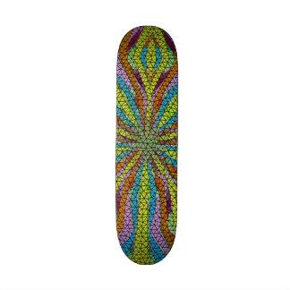 Modelo colorido del mosaico único tablas de patinar