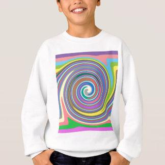 Modelo colorido del remolino del arco iris sudadera