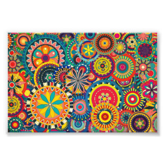Modelo colorido floral de la textura hermosa
