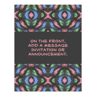 modelo colorido tarjeta publicitaria