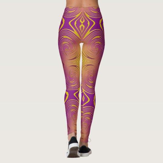 modelo colrful abstracto del remolino leggings