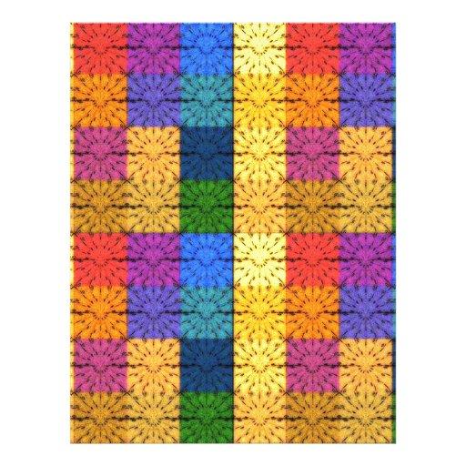 Modelo combinado cuadrado multicolor del bordado tarjeta publicitaria