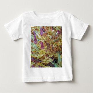 Modelo combinado de la primavera de la hoja bonita camiseta de bebé