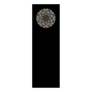 Modelo complejo. Diseño decorativo. Negro Tarjetas De Visita Mini