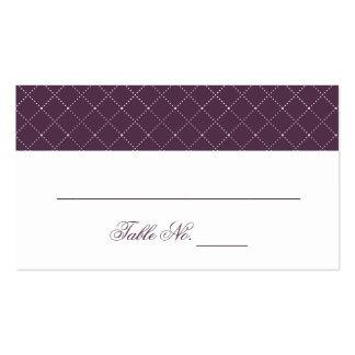 Modelo comprobado púrpura con clase que casa plantillas de tarjeta de negocio