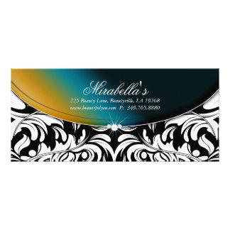 Modelo con clase del damasco del certificado del tarjeta publicitaria a todo color