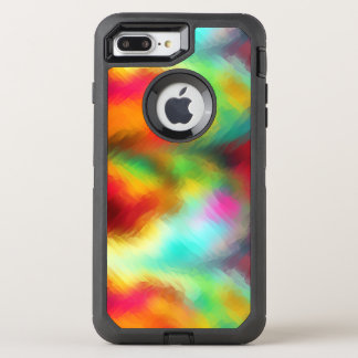 Modelo congelado del extracto del arco iris funda OtterBox defender para iPhone 8 plus/7 plus
