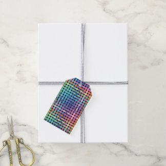Modelo cruzado arco iris etiquetas para regalos