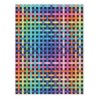 Modelo cruzado arco iris postal