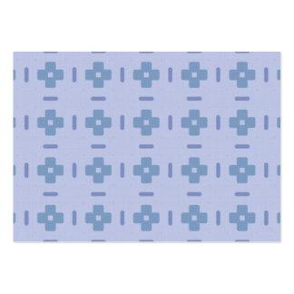 Modelo cruzado azul tarjetas de visita grandes