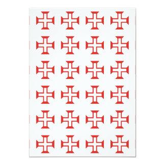 Modelo cruzado rojo de Templar Invitación 12,7 X 17,8 Cm