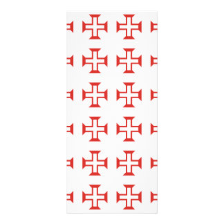Modelo cruzado rojo de Templar Tarjeta Publicitaria A Todo Color