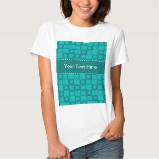 Modelo cuadrado de la turquesa camisetas