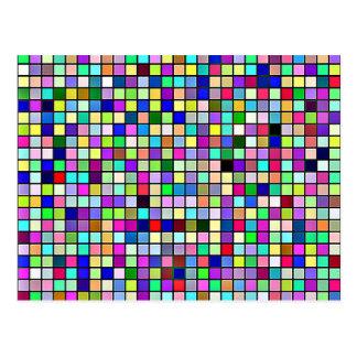 Modelo cuadrado de las tejas de los colores y de postal