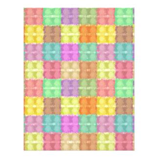 Modelo cuadrado multicolor retro tarjeton
