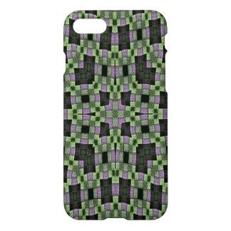 modelo cuadrado multicolor verde púrpura funda para iPhone 7