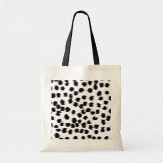 Modelo dálmata blanco y negro de la impresión bolsas de mano