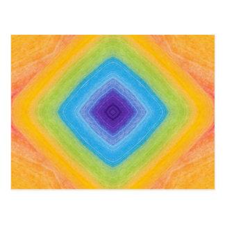 Modelo de acrílico del arco iris del diamante postal