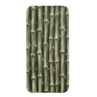 Modelo de bambú verde de la naturaleza bolsillo para iPhone