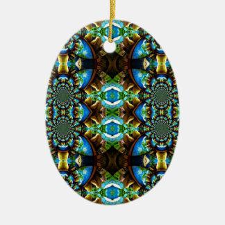 Modelo de cadena abstracto de Brown del verde azul Ornamentos De Reyes