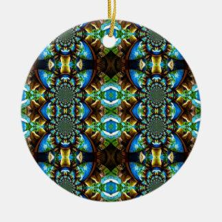 Modelo de cadena abstracto de Brown del verde azul Ornamente De Reyes